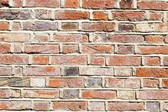 Lime mortar brick wall background Royalty Free Stock Images