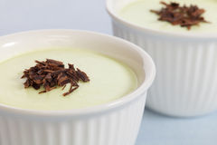 Lime Mousse with Chocolate Stock Images