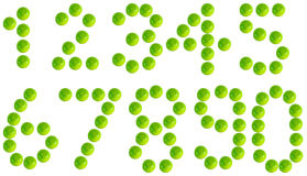 Lime. Number one to ten by lime Royalty Free Stock Photo