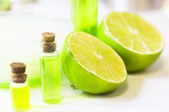 Lime oil skin concept Stock Image