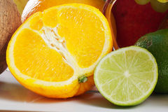 Lime and orange Royalty Free Stock Image