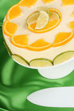 Lime and orange bavarian cream (bavarese) Stock Image