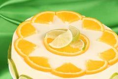 Lime and orange bavarian cream (bavarese) Stock Photography