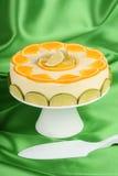 Lime and orange bavarian cream (bavarese) Stock Images