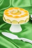 Lime and orange bavarian cream (bavarese) Royalty Free Stock Photo