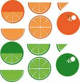 Lime orange citrus lime orange citrus royalty free illustration