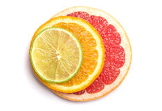Lime, orange and grapefruit Stock Photo