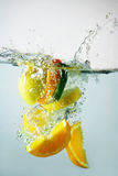 Lime, orange and lemon Stock Photography