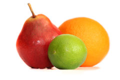 Lime and orange pear Stock Photography