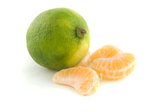 Lime and Orange Sections stock images