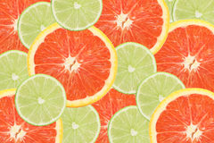 Lime and orange slices Royalty Free Stock Image