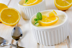 Lime panna cotta Royalty Free Stock Images