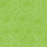 Lime pattern. 70s green seamless background pattern with stylized circles and lines Royalty Free Stock Images