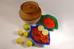 Lime pickle from India. Eaten along with regular meals Stock Photo