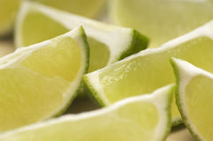 Lime Pieces Stock Photo
