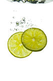 Lime Plunge Royalty Free Stock Photos