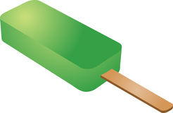 Lime popsicle Royalty Free Stock Image