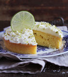 Lime pound cake with yogurt and cream cheese Royalty Free Stock Image