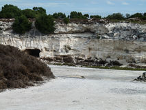 Lime Quarry. The lime quarry in the Robben Island in South Africa stock photos