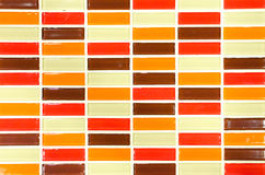 Lime red yellow and brown mosaic tiles background Stock Image