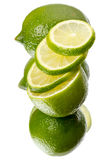 Lime with reflection Stock Photos