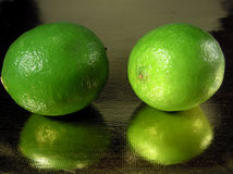 Lime reflection Stock Image