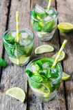 Lime refreshment Stock Images