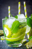 Lime refreshment Stock Photo