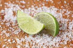 Lime and sea salt Stock Photography