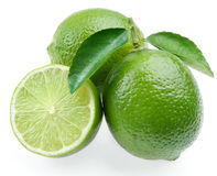 Lime with section stock photography