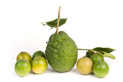 Lime with section on a white Royalty Free Stock Images