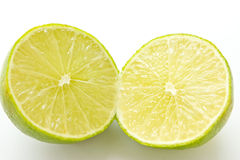 Lime with section on white background Royalty Free Stock Photography