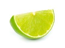 Lime segment. On white stock images