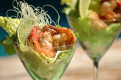 Lime shrimp cocktail Stock Images