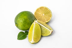 Lime. Is a shrubby tree,that grows to 5 m,with many thorns.It's fruit is 2.5-5 cm in diameter Stock Image