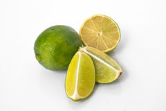Lime. Is a shrubby tree,that grows to 5 m.,with many thorns.It's fruit is 2.5-5 in diameter Royalty Free Stock Images