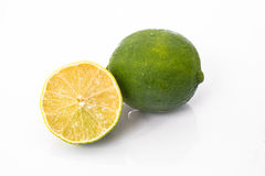 Lime. Is a shrubby tree,that grows to 5 m.,with many thorns.It's fruit is 2.5-5 in diameter Stock Image