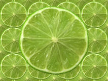 Lime slice. Fresh lime slice as a background Stock Photos
