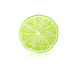 Lime slice. Isolated on white Royalty Free Stock Photos