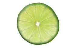 Lime slice. Slice of lime, translucent backlit Royalty Free Stock Image