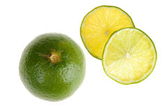 Lime with slice Royalty Free Stock Photography