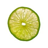 Lime Slice. Isolated on White Background Royalty Free Stock Images