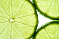 Lime slice (horizontal) Royalty Free Stock Image