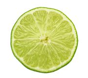 Lime slice isolated without shadow.  stock photo