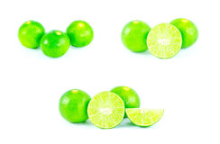Lime slice isolated Stock Photos