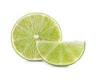 Lime slice isolated on white Stock Image