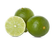 Lime slice isolated on white Royalty Free Stock Image
