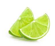 Lime slice isolated Royalty Free Stock Photos