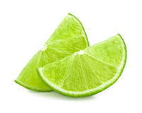 Lime slice isolated Stock Image