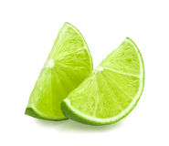 Lime slice isolated Royalty Free Stock Images